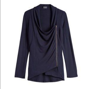 Market & Spruce Alan asymmetrical cardigan
